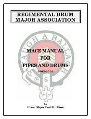 RDMA Mace Manual - Regimental Drum Major Association