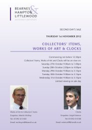 COllECTORS' iTEMS, wORkS Of ART & ClOCkS