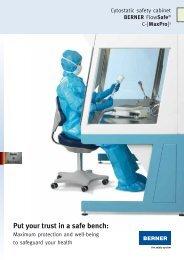 Cytostatic safety cabinet BERNER FlowSafe® C-[MaxPro]³