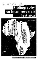 Bibliography on bean research in Africa