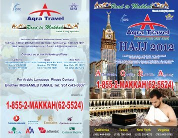 Page 1 Page 2 PACKAGE A ( Makkah 1st) 5*Hotel Deluxe Package ...