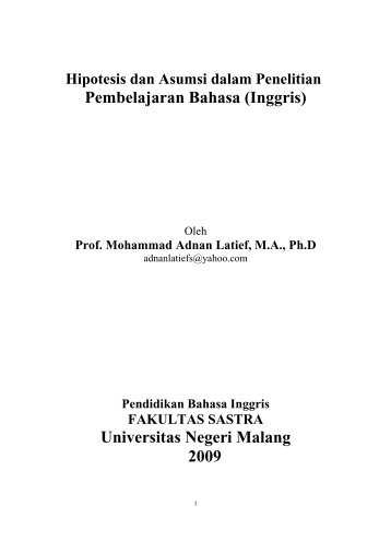Universitas Negeri Malang 2009 - FAKULTAS SASTRA Universitas ...