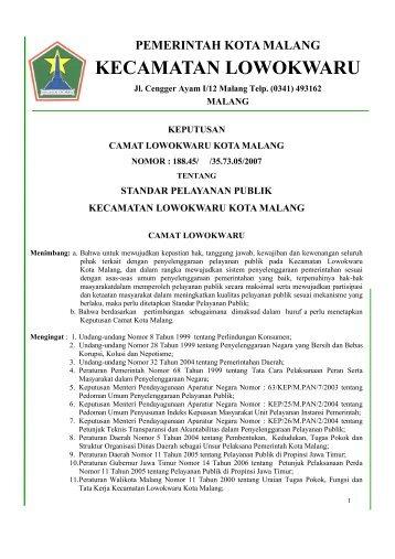 KECAMATAN LOWOKWARU - Pemerintah Kota Malang