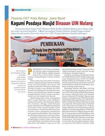 Kagumi Posdaya Masjid Binaaan UIN Malang
