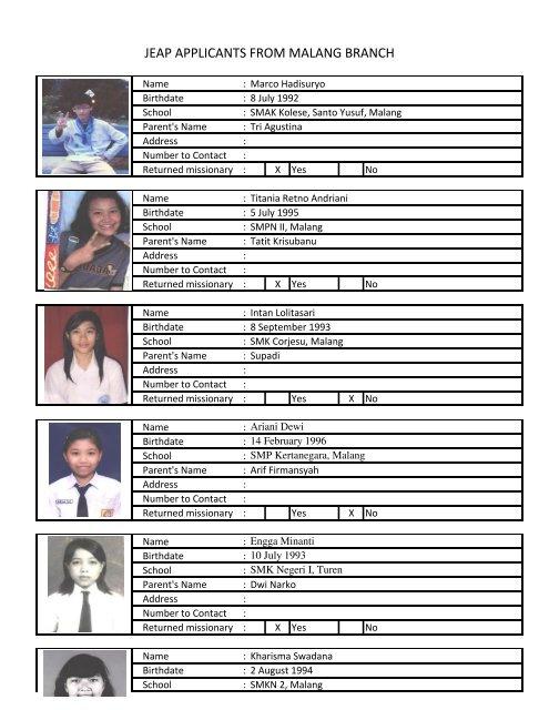 Jeap Students Malang