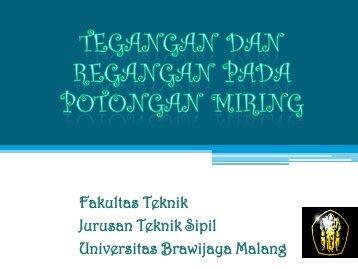 Fakultas Teknik Jurusan Teknik Sipil Universitas Brawijaya Malang