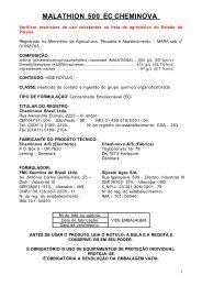 MALATHION 500 EC CHEMINOVA - Secretaria da Agricultura e ...