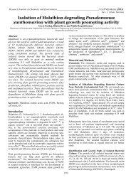 Isolation of Malathion degrading Pseudomonas xanthomarina with ...