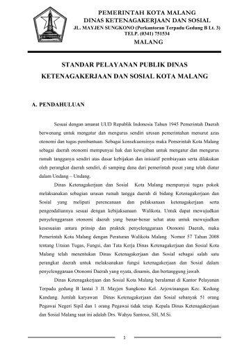 Dinas Ketenagakerjaan Dan Sosial - Pemerintah Kota Malang