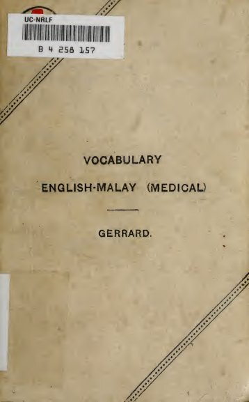A vocabulary of Malay medical terms - Sabrizain.org