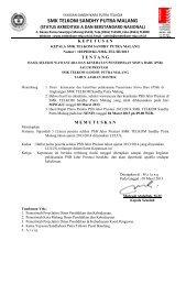 status akreditasi a - SMK Telkom Sandhy Putra Malang