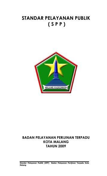 Standar Pelayanan Publik (SPP) - Pemerintah Kota Malang