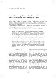 Insecticide susceptibility and resistance development in malathion ...
