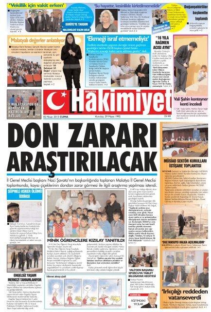 Ekmegi Israf Etmemeliyiz Malatya Hakimiyet Gazetesi