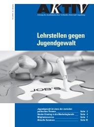 Lehrstellen gegen Jugendgewalt - KV Bern