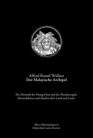 Alfred Russel Wallace Der Malayische Archipel - Verlag der Pioniere