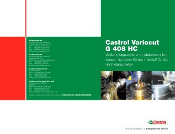 Castrol Variocut G 408 HC (pdf, 184KB) - BP
