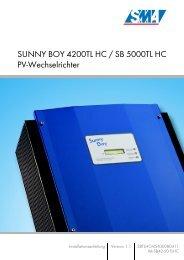 Sunny Boy SB 4200TL HC Multi-String / SB 5000TL HC Multi-String