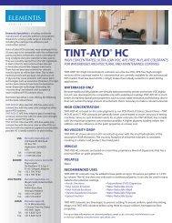 TINT-AYD HC - Elementis Specialties