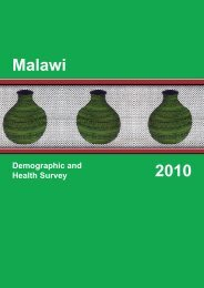 Malawi Demographic and Health Survey 2010 ... - Measure DHS