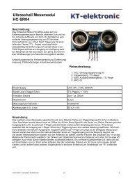 Ultraschall Messmodul HC-SR04