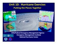 Unit 10: Hurricane Exercise: - National Hurricane Center