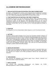 ALLGEMEINE MIETBEDINGUNGEN - SLT Eventtechnik
