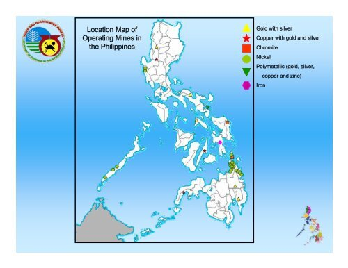 Location Map Of Operating Mines In The Philippines