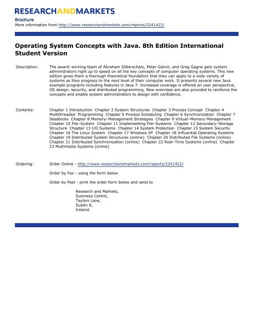 System edition pdf 8th concepts operating java with
