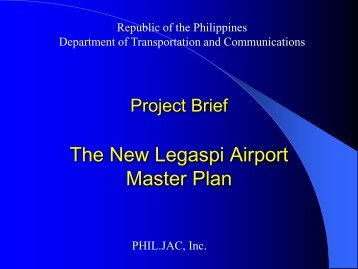 The New Legaspi Airport Master Plan - PPP Center