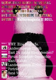 Kulturmagazin II|2011. WWF. Eine Biografie. Landesmuseum Zürich ...