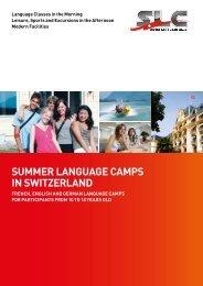 SUMMER LANGUAGE CAMPS IN SWITZERLAND - SLC, Swiss ...