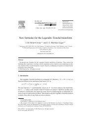 New formulas for the Legendre–Fenchel transform