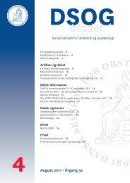 Nr. 4 - 17. august - Dansk Selskab for Obstetrik og Gynækologi