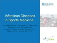 Infectious Diseases in Sports Medicine - ACEP