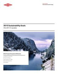 2015 Sustainability Goals 4Q 2012 Update - The Dow Chemical ...