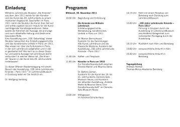 Einladung Programm - Thomas-Morus-Akademie Bensberg