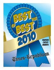 2010 Readers choice awards - Times Republican