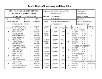 Chapter 1603 Code - Texas Department of Licensing and Regulation