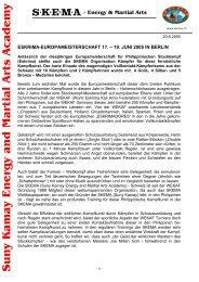 Sun y Kama y Energy and Martial Arts Academ y - SKEMA Schweiz