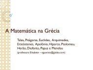 A Matemática na Grécia