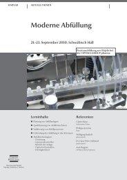 Moderne Abfüllung 21.-23. September 2010, Schwäbisch ... - Skan AG