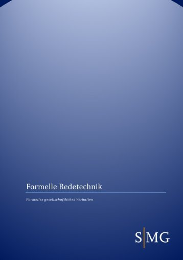 Formelle Redetechnik - SMG Sales Management Group