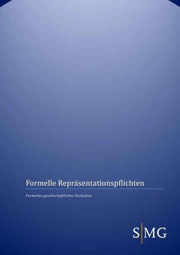 Formelle Repräsentationspflichten - VASUH