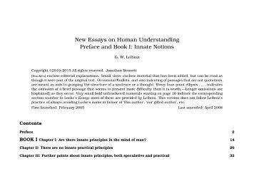 Leibniz s New Essays Concerning the Human Understanding by