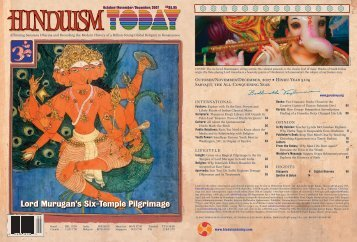 Hinduism Today October 2007 - Cover, Index, Front Articles