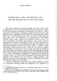 asko parpola - Indologica.com The Online Journal of the International