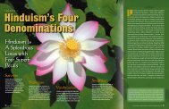 Hinduism Is A Splendrous Lotus with Four Superb Petals