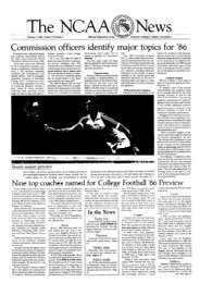 The NCAA News - National Collegiate Athletic Association