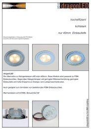 hocheffizient lichtstark nur 40mm Einbautiefe - Illuma
